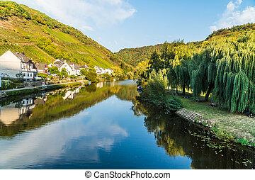 Idyllic Landscape from Lahn River