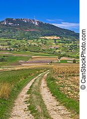 Idyllic landscape of Kalnik mountain, Croatia