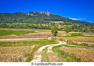 Idyllic landscape of Kalnik mountain, Croatia - Idyllic...