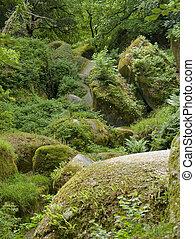 Huelgoat - Idyllic natural scenery with big rounded ...
