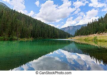 Idyllic Olive Lake in Kootenay National Park, British Columbia, Canada