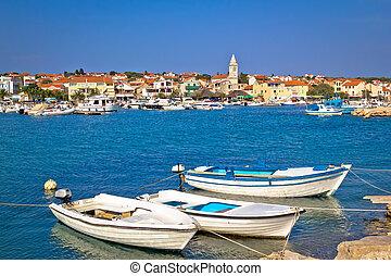 idyllic, pescadores, vila, de, pakostane