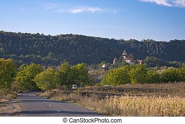 Idyllic rural landscape in Transylvania