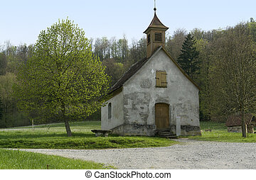 idyllic small chapel - small peaceful chapel in Wackershofen...