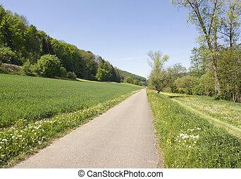 idyllic spring scenery in Hohenlohe