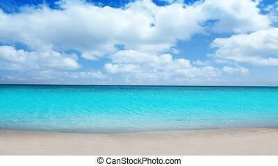 Idyllic tropical turquoise beach