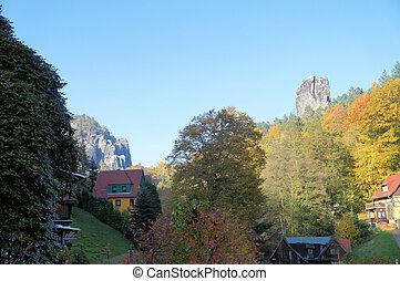 Idyllic valley in Saxony