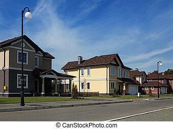 idyllique, voisinage, amérique