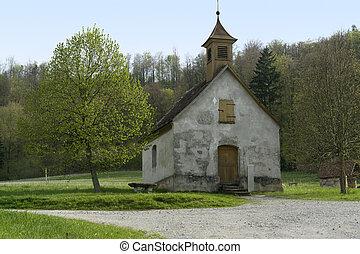 idyllisch, kleine, kapel