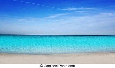 idyllisch, tropische , türkis, sandstrand