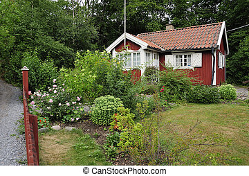 idyllisch, zomer huis