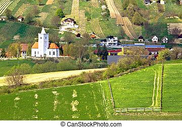 Idylliv hill village of Visoko