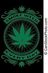 iedere dag, rook, wiet