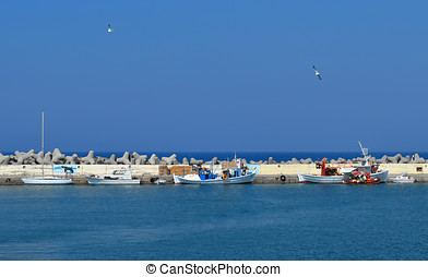 Ierapetra Harbour - Traditional working harbor in Ierapetra,...