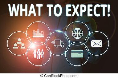 iets, kostuum, achting, tekst, het voorstellen, schrijvende , wat, over, expect., het tonen, waarschijnlijk, presentatie, slijtage, device., vragen, vrouw zaak, conceptueel, geschieden, hand, happen, foto, smart, werken