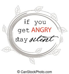 If you get angry stay silent. Patience Quotes. Prophet...