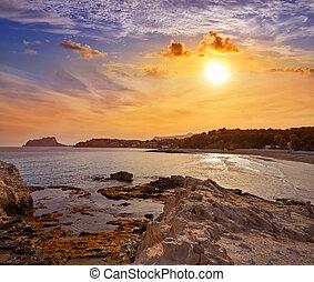 Ifach Penon view from Moraira beach in Alicante