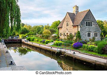 iffley, lock., oxford, anglia