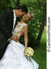ifjú házasok, pár