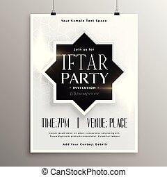 iftar, plantilla invitación partido, celebración