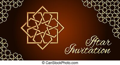 iftar, tarjeta, invitación