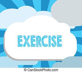 igényel, fizikai, exercise., ügy, fénykép, kiállítás, írás, jegyzet, tart, elfoglaltság, showcasing, egészség, ki, erőfeszítés, átadott