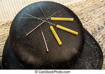 igły akupunktury