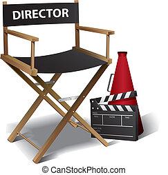 igazgató, film, szék