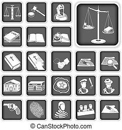 igazságosság, gombol, törvény, állhatatos