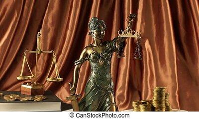 igazságosság, szobor, törvény