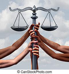 igazságosság, törvény közösség
