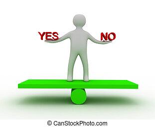 igen, egyensúly, nem, 3