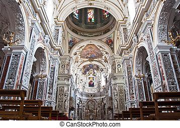 iglesia, 2013:, palermo, año, italia, 28, 1636, la, -,...