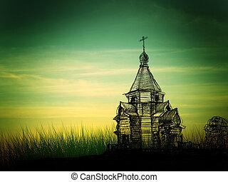 iglesia, bosquejo