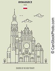iglesia, bydgoszcz, señal, trinidad santa, icono, poland.