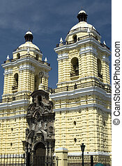 iglesia church of san francisco detail lima peru basilica...