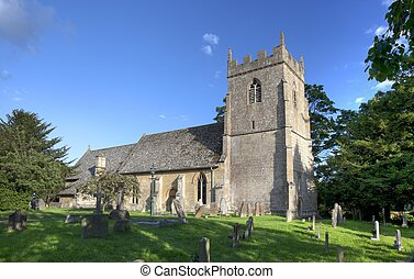 iglesia, cotswold, ebrington