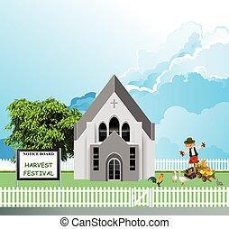 iglesia de la parroquia, fiesta, cosecha