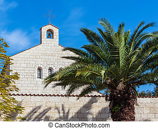 iglesia, de, multiplicación, fachada, en, tabgha
