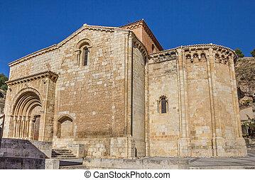 Iglesia de San Miguel church on a hill in Daroca