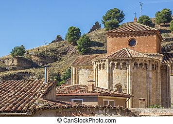 Iglesia de San Miguel on a hill in Daroca