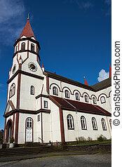 iglesia, en, el, chileno, distrito de lago