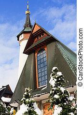 iglesia, en, zakopane, polonia