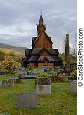 iglesia, heddal, noruega