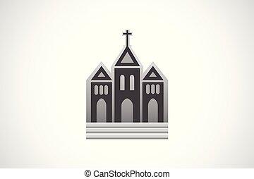 iglesia, icono, logotipo