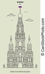 iglesia, kazan, señal, epifanía, russia., icono
