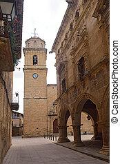 iglesia, magdalena, tarragona, españa, arnes, pueblo, terra, provincia, santa, cataluña, aldea, alta, vestíbulo