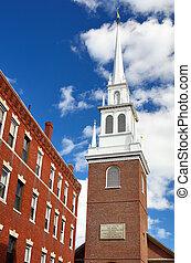 iglesia, norte, boston, viejo