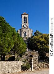 iglesia, nouvelle, ardeche, balazuc, francia