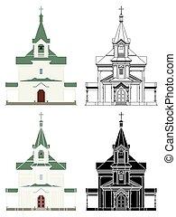 iglesia, ortodoxo, toyohashi, japan.